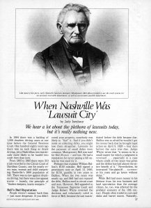 When Nashville Was 'Lawsuit City'